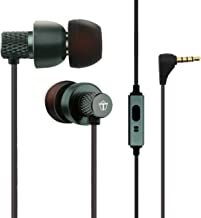 Tantra T1000 Super Extra Bass 225 Earphones Subwoofer Noise Cancellation Wired Headphones (Metal Grey)