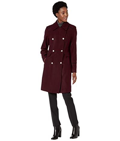 Vince Camuto Double Breasted Wool Coat V29768 (Port Royale) Women