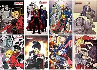 ePanda Anime Fullmetal Alchemist Poster Wall Decor Art Print,Set of 8 pcs,11.5x16.5 inches