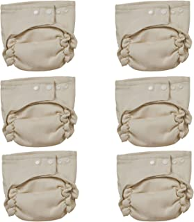 Osocozy Two Sized Unbleached Fitted Diaper - 6 Pack- Size 1