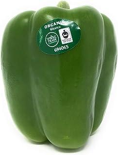 Pepper Bell Green Organic Whole Trade Guarantee, 1 Each