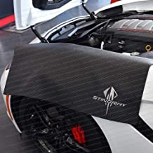 Ecklers Premier Quality Products 25-251562 Corvette Fender Cover Black With EmbroideredJake And Corvette Racing Logo
