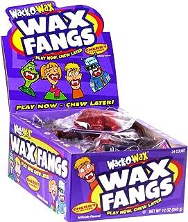 Wack O'Wax Cherry Flavored Halloween Wax Fangs, Box of 24