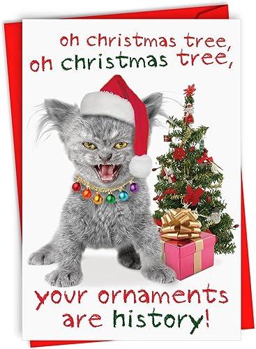 ¡envío gratis! Your Your Your adornos están histor Christmas humor Paper Card (12unidades)  promocionales de incentivo