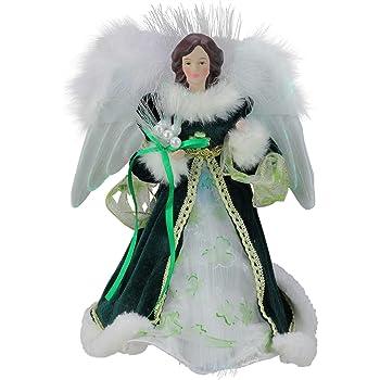 UL1081 Adler Inc Kurt Adler UL 10-Light Angel Treetop Figurine 12-Inch Irish Kurt S