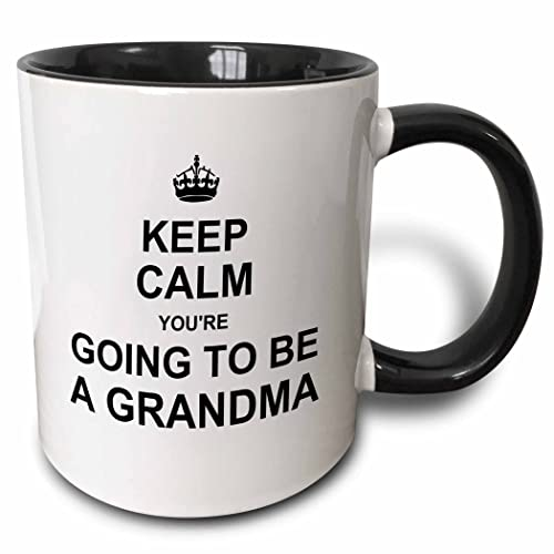 903917f134b 3dRose Keep Calm Youre Going to be A Grandma Future Grandmother Text Gift  Two Tone Black