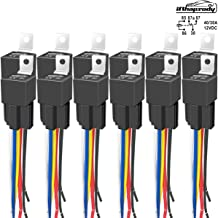 12 PACK 80/60 AMP 12 V DC Relay and Harness - Heavy Duty 12 AWG Tinned Copper Wires, 5-PIN SPDT Bosch Style Automotive Relay