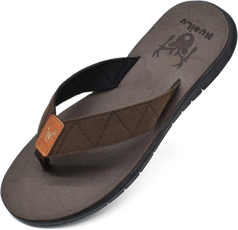 Charlotte Mall KuaiLu Men's Yoga Mat Elegant Leather Flip Flops Thong with Sandals Arch