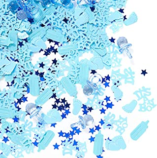 QILICHZ It's A Boy Baby Shower Confetti,3600pcs Mini Acrylic Table Confetti Table Scatter Decor Party Confetti Baby Shower Favors Decor for Baby Shower Birthday Wedding Party Table Decor Balloon Decor
