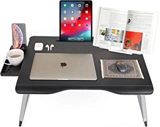 Cooper Mega Table [XXL Folding Laptop Desk] for Bed & Sofa | Couch Table, Bed Desk, Laptop, Writing, Study, Eating Storage...