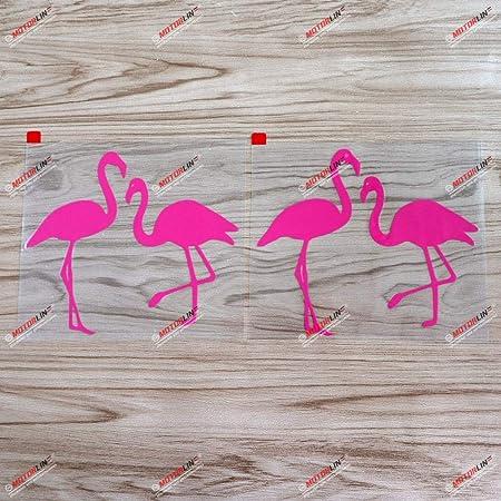 Di Cut Decal Flamingo Silhouette in Circle HomeLaptopComputerTruckCar Bumper Sticker Decal