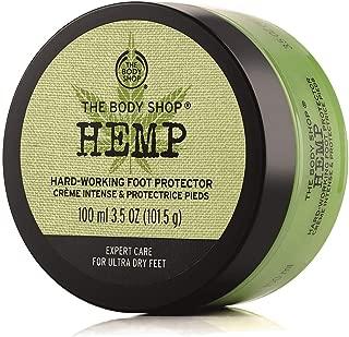 The Body Shop Hemp Foot Protector,  Paraben-Free Foot Cream,  3.5 Oz.