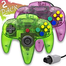$29 » Wired Controller for Nintendo 64 N64 Console, Upgraded Joystick Classic Video Game Gamepad (Clear Green and Clear Purple)