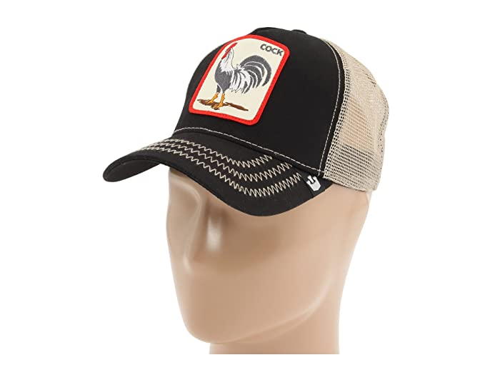 Goorin Brothers  Animal Farm Snap Back Trucker Hat (Black Rooster) Caps