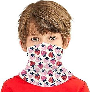 Boys Girls Neck Gaiters Face Mask, Strawberries Cooling Kids Bandana Scarf Anti Dust UV Protection Balaclavas
