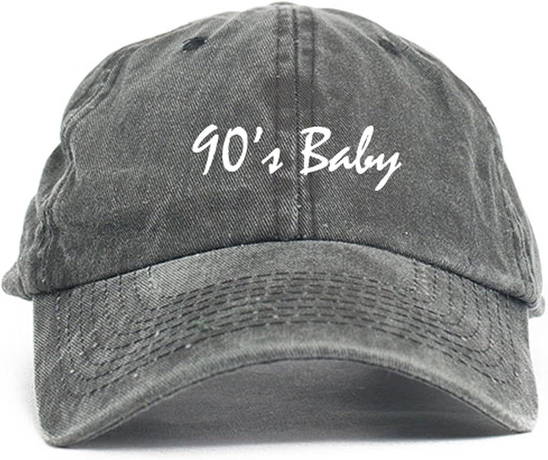 CUSTOM 90's Baby Dad Hat Baseball Cap Unstructured Nineties New - Black Denim w/Suede Bill