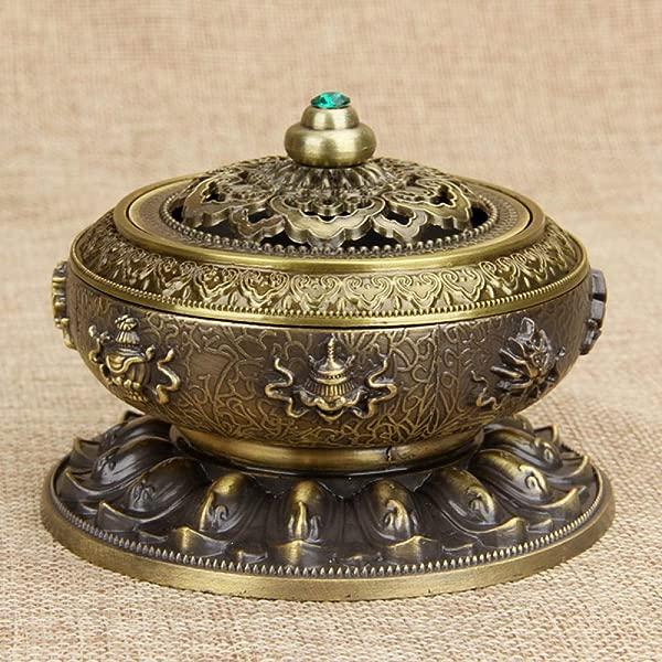 YUSDE Incense Stick Holders Vintage Buddhist Tibetan Sandalwood Incense Burner S Bronze