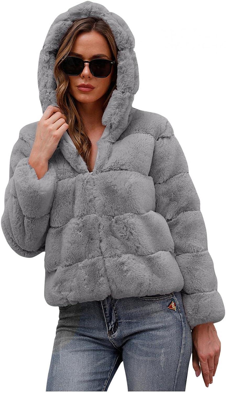 LEIYAN Womens Shaggy Faux Fur Jackets Coat Long Sleeve Sherpa Fuzzy Warm Winter Open Front Cardigan Outwear Streetwear