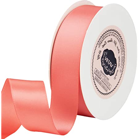 23 Metre Spool Wreath Perfect for Wedding Decor VATIN 16mm Double Faced Polyester Burgundy Satin Ribbon Baby Shower,Gift Package Wrapping and Other Projects