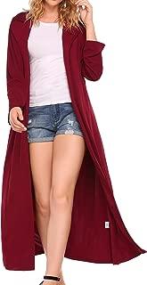 Long Sleeve Asymmetric Draped Long Maxi Cardigan Sweater Open Front Duster Coat
