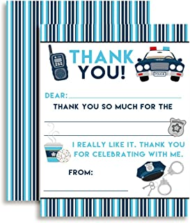Police Themed Thank You Notes for Kids, set of 10 4