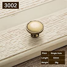 wangjian& Beige Ceramic Door Handles Antique Furniture Knobs and Handles for Kitchen Cabinet Cupboards Drawer Pulls Concise Drawer Handles,A