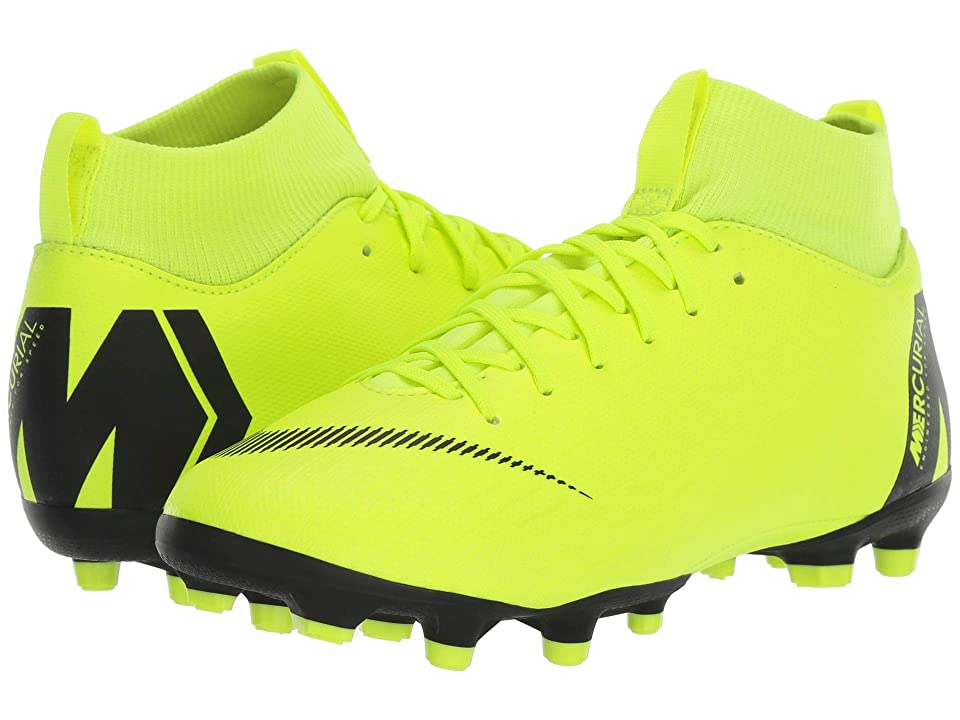 Nike Kids Superfly 6 Academy MG Soccer (Little Kid/Big Kid) (Volt/Black) Kids Shoes