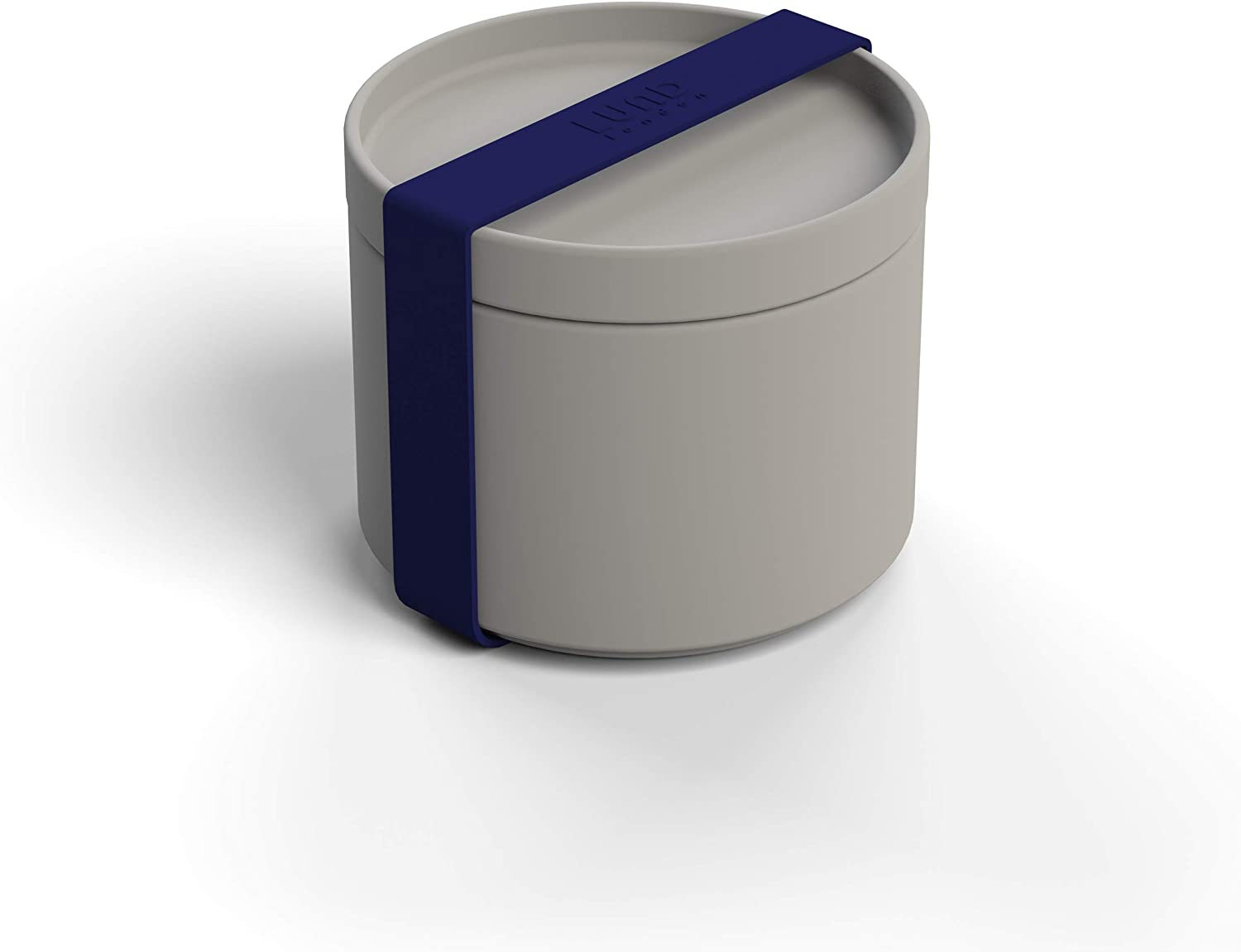 Snack Container, Made from Eco-Friendly Bamboo, BPA-Free, Leak Resistant, Dishwasher Safe, Grey
