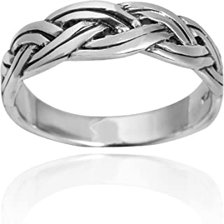 Tribal Feather .925 Sterling Silver Band Ring