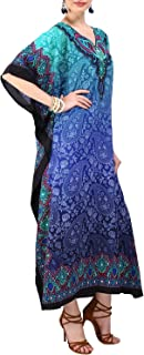 Miss Lavish London Women Kaftan Tunic Kimono Free Size Long Maxi Party Dress for Loungewear Holidays Nightwear Beach Every...