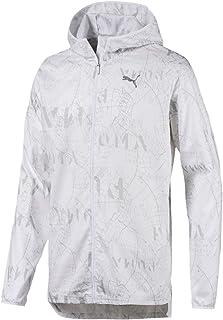 PUMA Men's Ignite Hooded Graphic Jacket, Puma White/AOP