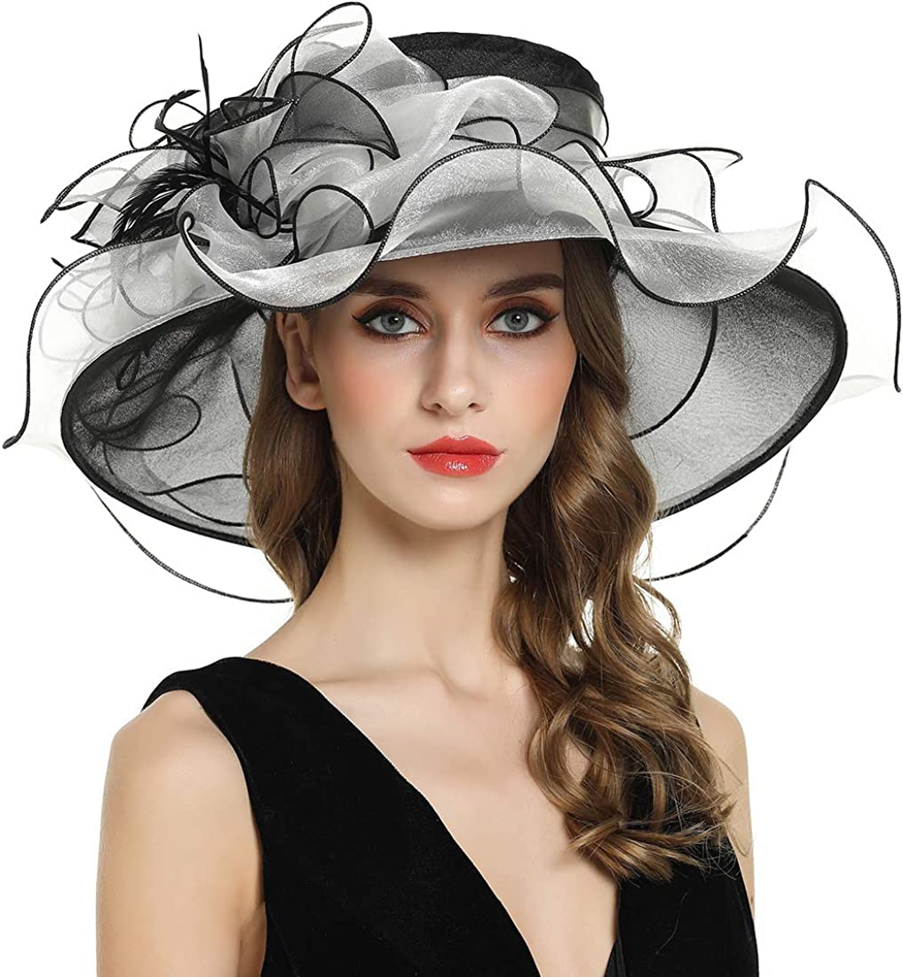 Women's Fascinator Church Kentucky Brial Max 50% OFF Derby Organza hat Ranking TOP7