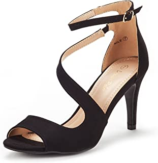 DREAM PAIRS Women's Nile Fashion Stilettos Open Toe Pump Heel Sandals