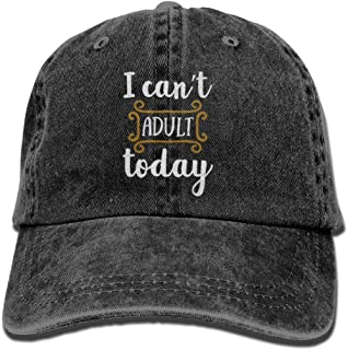 I Can't Adult Today Unisex Embroidered Cowboy Hat Running Hat