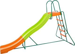 Platports Home Playground Equipment: 10' Indoor/Outdoor Wavy Slide, Ages 3 to 10