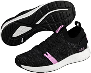 PUMA Women's NRGY Neko Engineer Knit WN's Athletic & Sports Shoes, Black-Iron Gate-Orchid