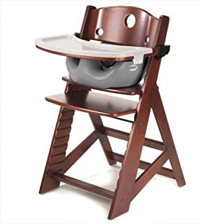 Height Right HIGH Chair Mahogany with Grey Infant Insert and Tray