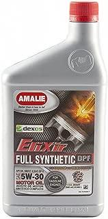 Amalie 160-75766-56-12PK Elixir Full Synthetic Motor Oil 5W-30 Dexos1 - 12 quart case
