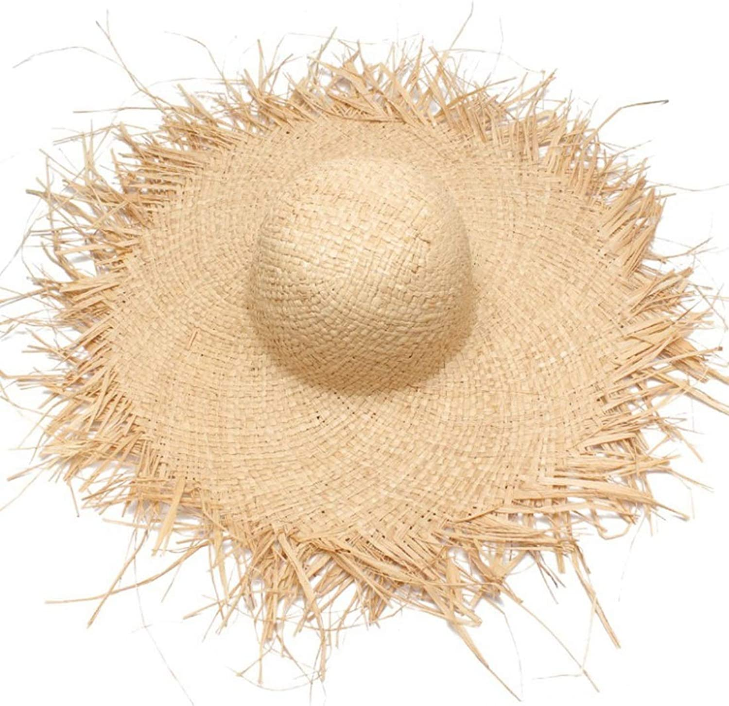 Spring and Summer Lafayette Material is Made from A Beach Hat with Sunshade Hats (color   Beige)