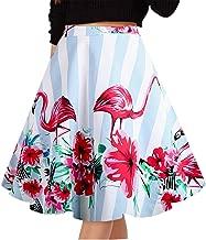 Musever Women's Pleated Skirts Print Casual Midi Skirt