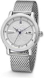 Kronsegler - Reloj automático Karma de acero plateado/milanés