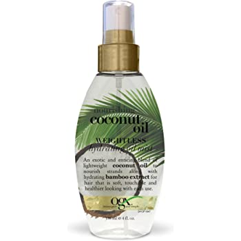 OGX Nourishing Coconut Oil Weightless Hydrating Oil Mist, 4 Ounce