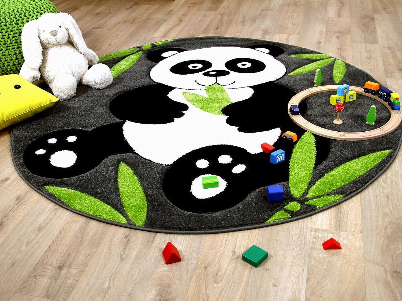 Savona Kinder Spiel Teppich Kids Pandabär Grau Grün Rund Rund Rund in 3 Größen B079VVP6RW ae6144