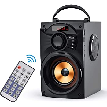 Amazon Com Eifer Portable Bluetooth Speakers Subwoofer Heavy Bass Wireless Outdoor Indoor Party Speaker Line In Speakers Support Remote Control Fm Radio Tf Card Lcd Display For Home Party Phone Computer Pc Home Audio