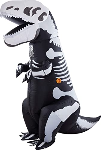 wholesale Twinkle Star 8.2FT Halloween Costume Adult Inflatable Skeleton Dinosaur, Tyrannosaurus T-Rex Halloween Decorations discount Party Fancy Dress Funny lowest Cosplay Jumpsuit White sale