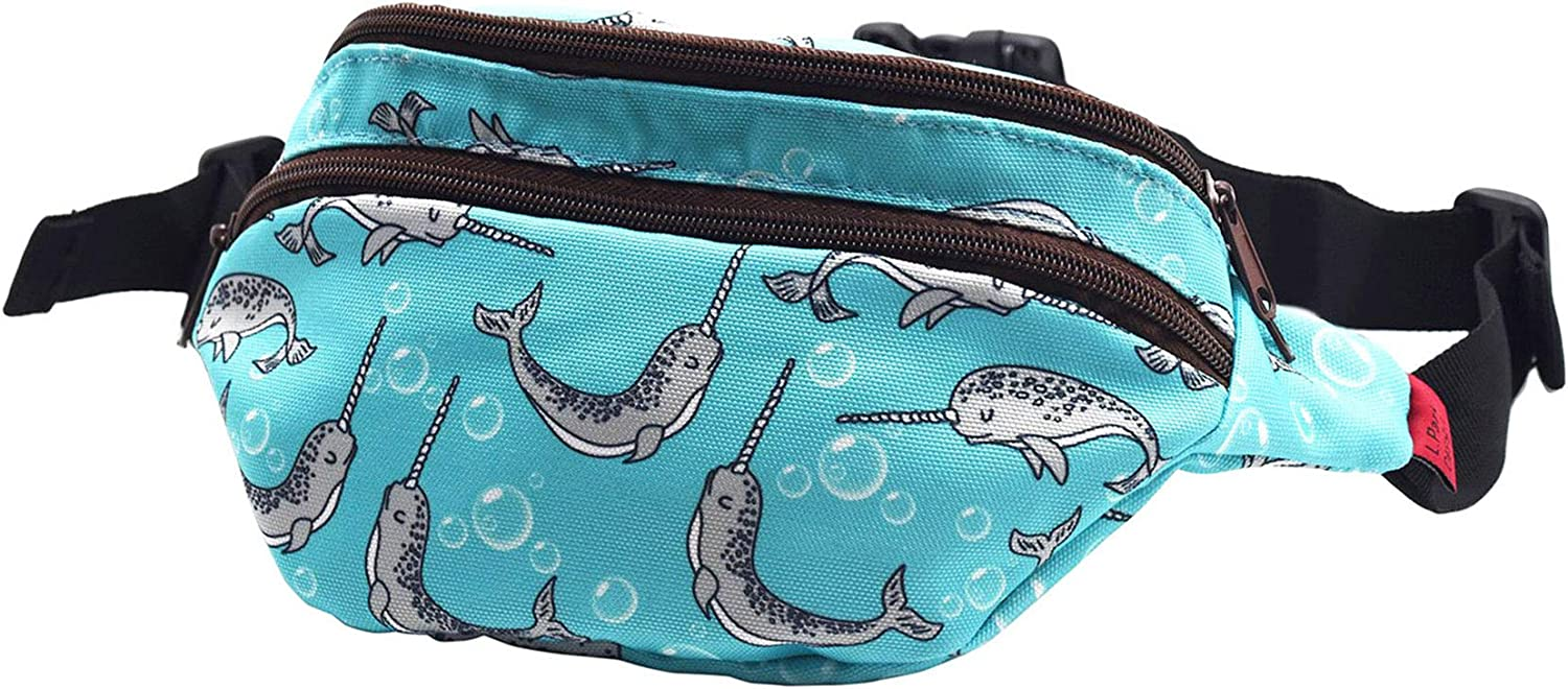 Narwhal Gifts Idear Fanny Pack Hip Canvas Waist Pou Bum Belt Large discharge Baltimore Mall sale