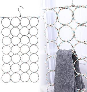 WINOMO 2 Pcs Scarf Hanger Organizer Holder,Multifunctional 28 Count Loops Scarf Racks, Tie RacksCloset Organizer and Storage(Mixed Color)