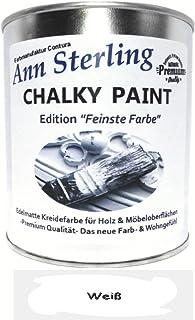 Kreidefarbe Shabby Chic Feinste Farbe Ann Sterling für Innen und Außen Möbellack Bastellfarbe Weiß 022