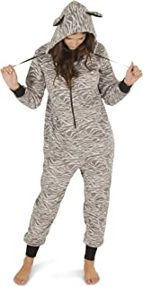 Women's Warm and Cozy Plush Adult Onesies for Women One Piece Novelty Pajamas