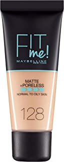 Maybelline New York Fit Me Matte + Pore less Foundation - 30 ml, Warm Nude 128